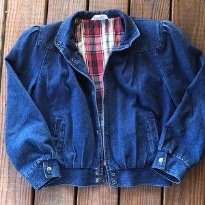 Vintage 80's Puffed Sleeve Denim Jacket-M